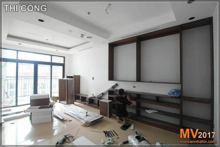 Construction of wooden furniture, Royal city 100m2