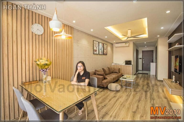 Location of interior design of the apartment according to feng shui