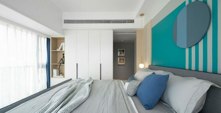 The main bedroom is made entirely of moisture-proof gypsum ceilings, and the acoustic and air-conditioning system is designed.