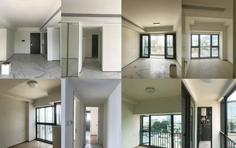 The ground is handed over by the investor before carrying out the renovation of apartment's interior