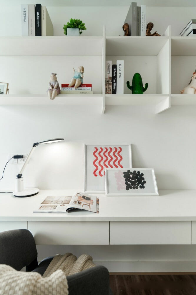 Innovative design storage cabinets can be turned into a desk