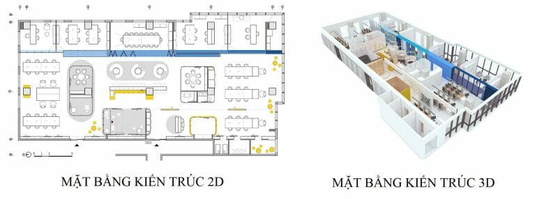 nice modern architecture 2d and 3d office space