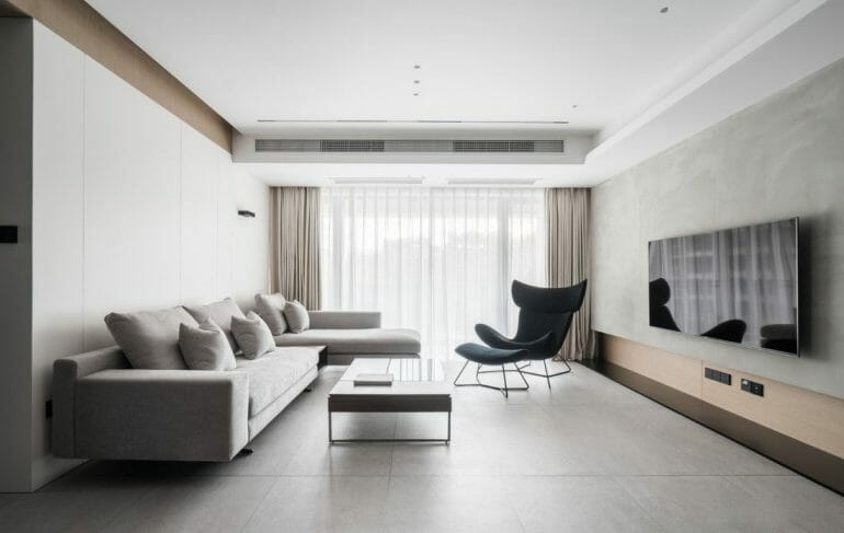 MODERN INTERIOR FOR 100m2 TWO BED APARTMENT