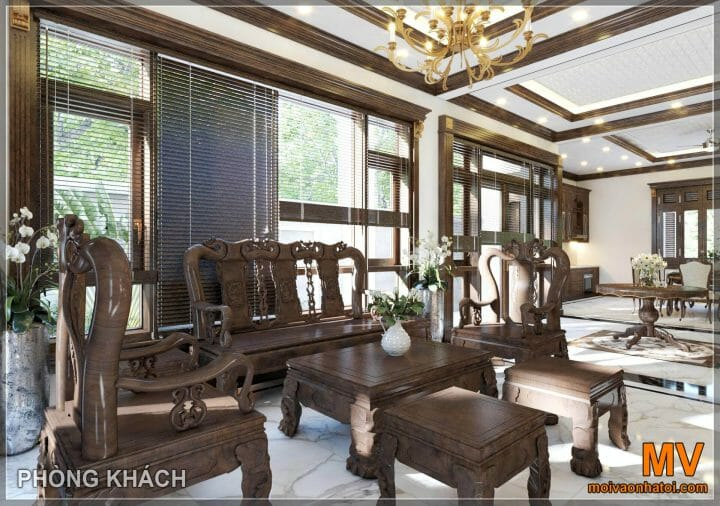 Traditional style living room furniture