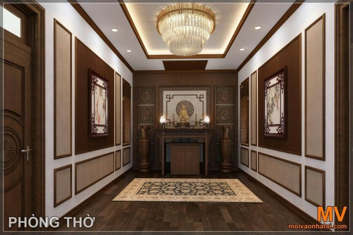 Church room design for neoclassical mansion