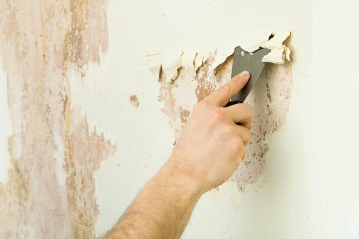 Clean the wall surface before painting