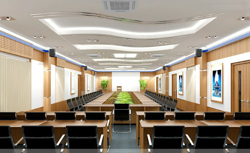 Gypsum plasterboard ceiling for office