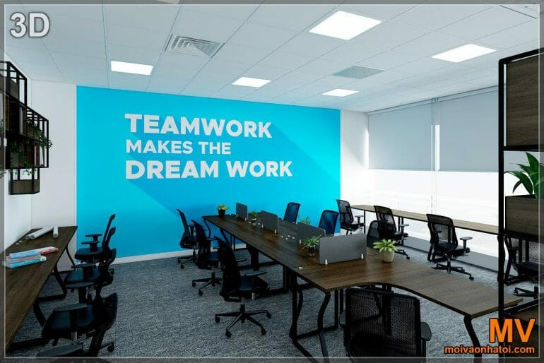 3d design wall array painted office interior decor