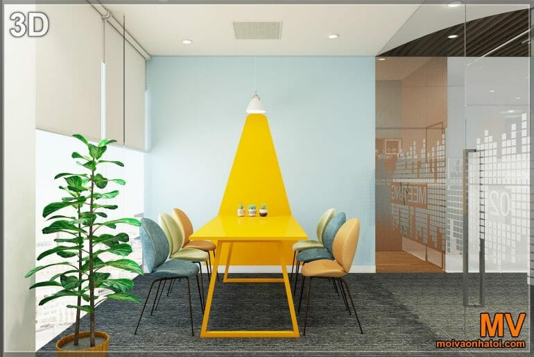 3d decorative painted wall design for small meeting room