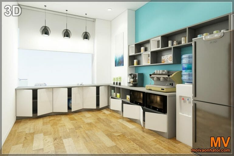 Interior design 3d dining room pantry office work