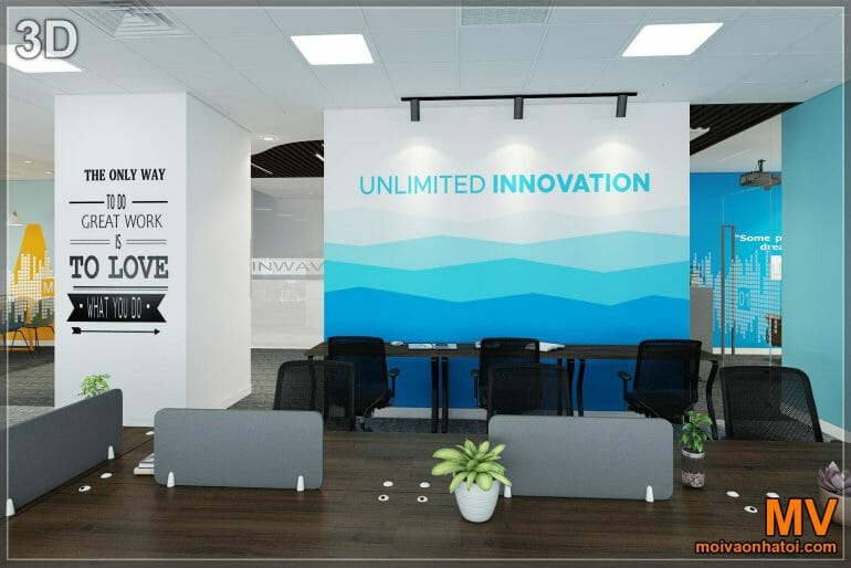 3d design painted wall array hit office decor