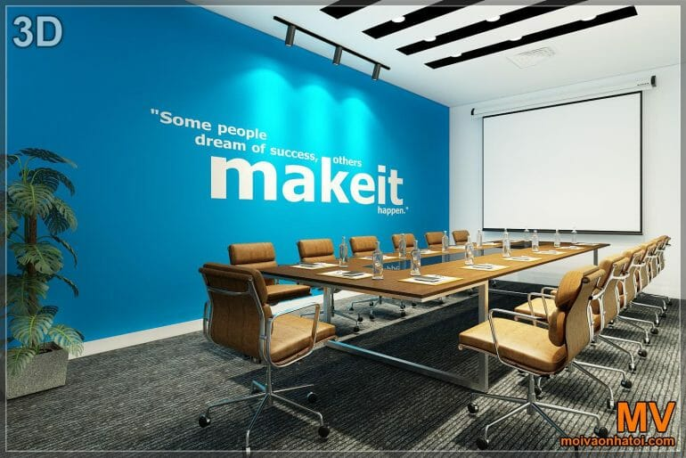 3d design of large meeting room interior