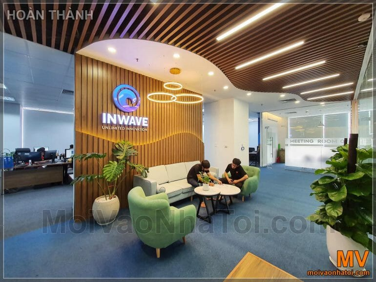 design and construction of office lobby backdrop