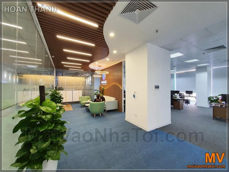 Wooden ceiling for lobby office furniture
