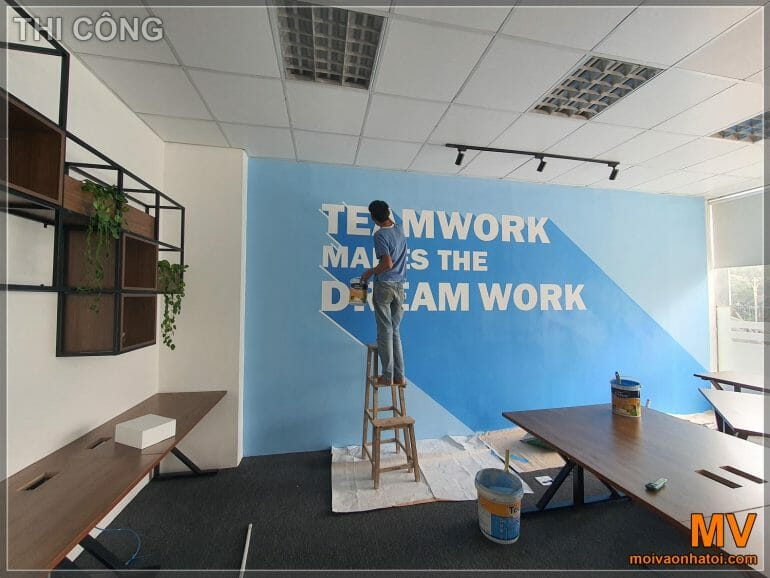 Decorative painting paint for office wall