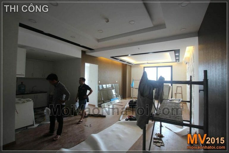 Processus de construction de l'appartement Times City T8