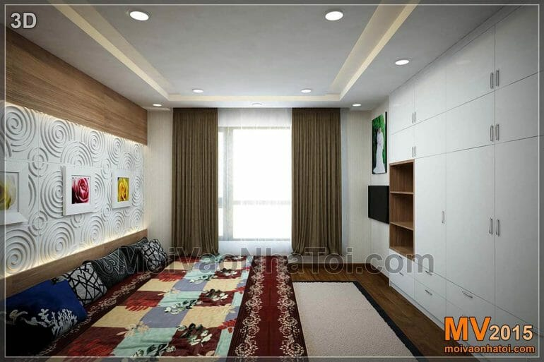 Design 3D appartement grande chambre T8 Times City